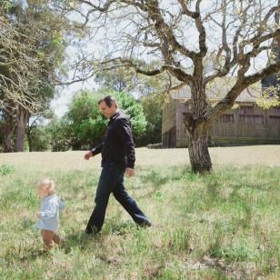 Dad following son in Novato