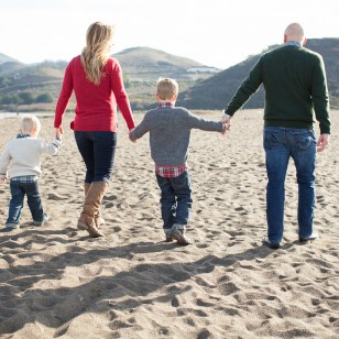 Rodeo beach family photography session in Marin