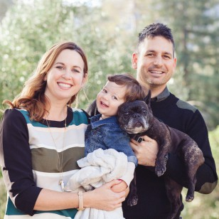 Family photography with dog in San Anselmo