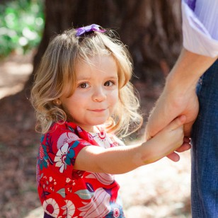 Dad holding daughter hand in Marin photography session